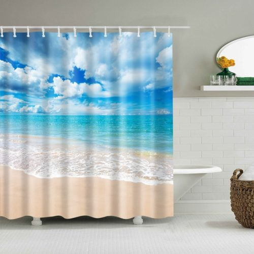 Waterproof Shower Curtain Beach Design