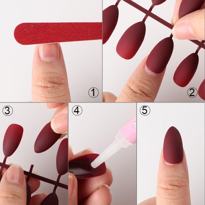 Fake Nails Matte Nail Extension