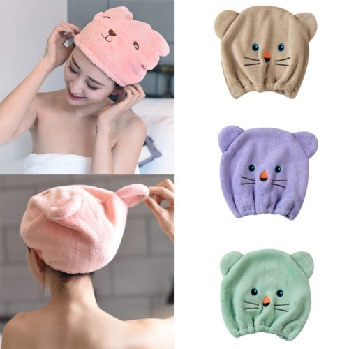 Womens Shower Cap Microfiber Hair Cap