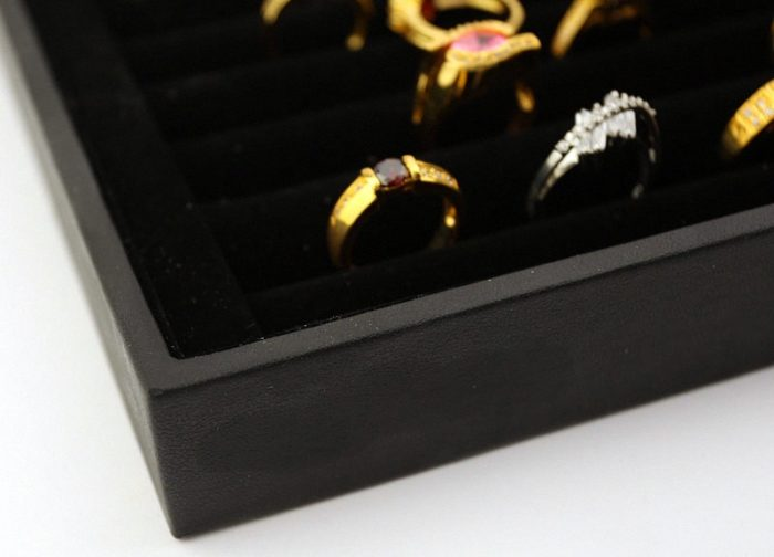 Ring Display Case Jewelry Organizer