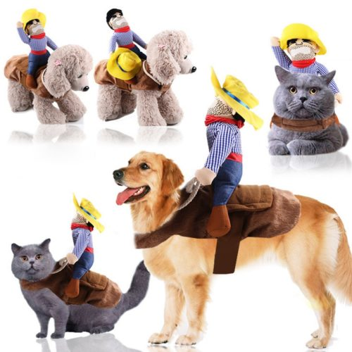 Cowboy Dog Costume Pet Clothes