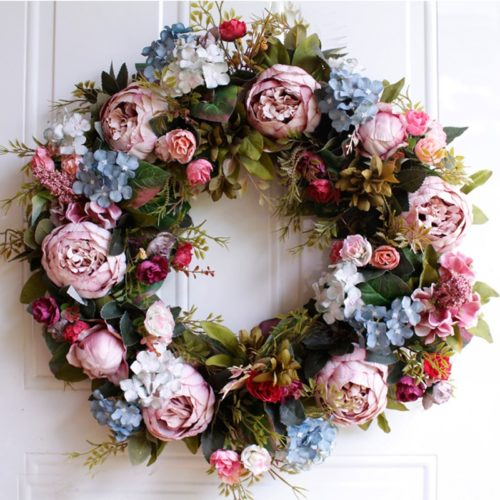 Front Door Wreath Decorative Garland