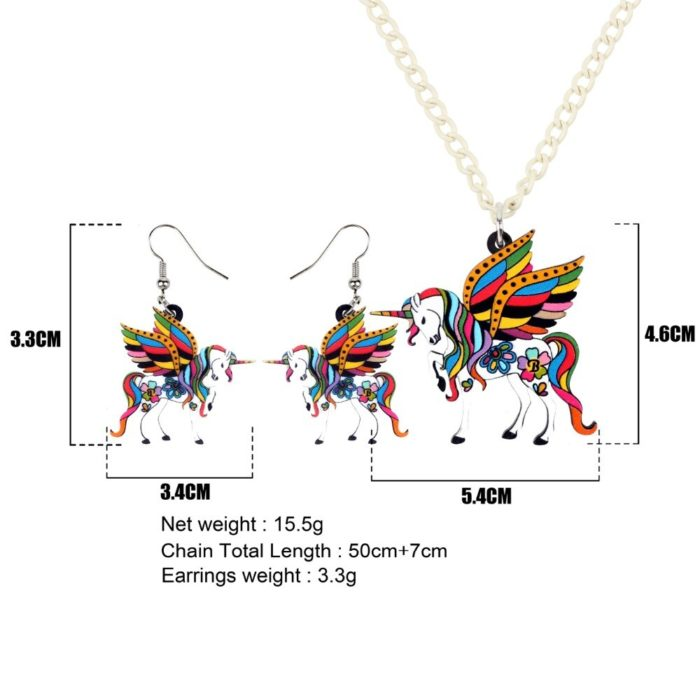 Necklace and Earring Set Unicorn Jewelries