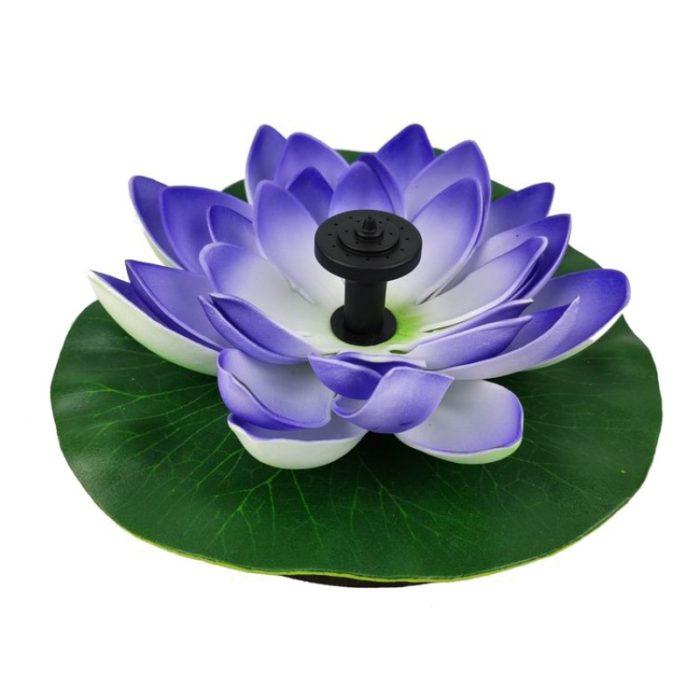 Solar Garden Fountain Lotus Flower
