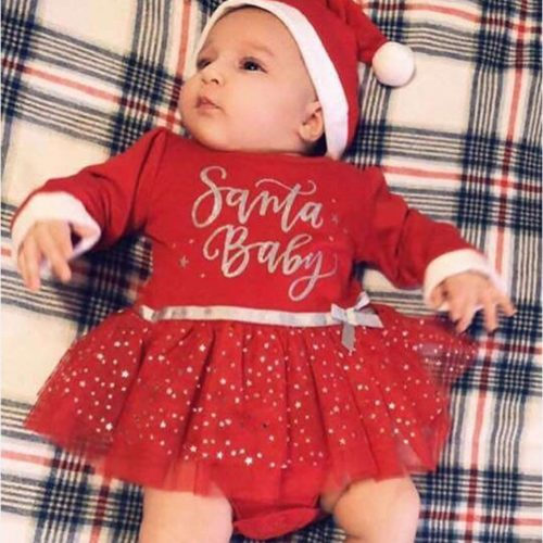 Baby Girl Christmas Outfit Tutu Dress