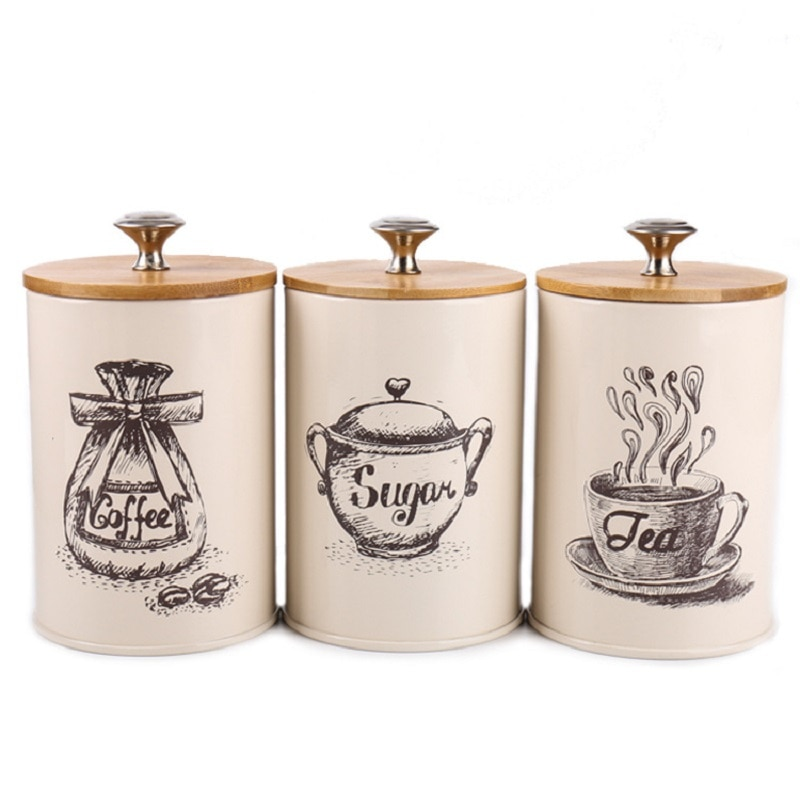 Tea Coffee Sugar Canisters Storage
