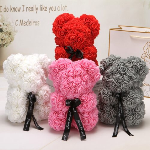 Flower Teddy Bear Artificial Flower Gift