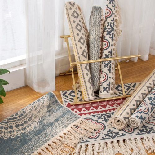 Boho Area Rug Floor Mat Decor