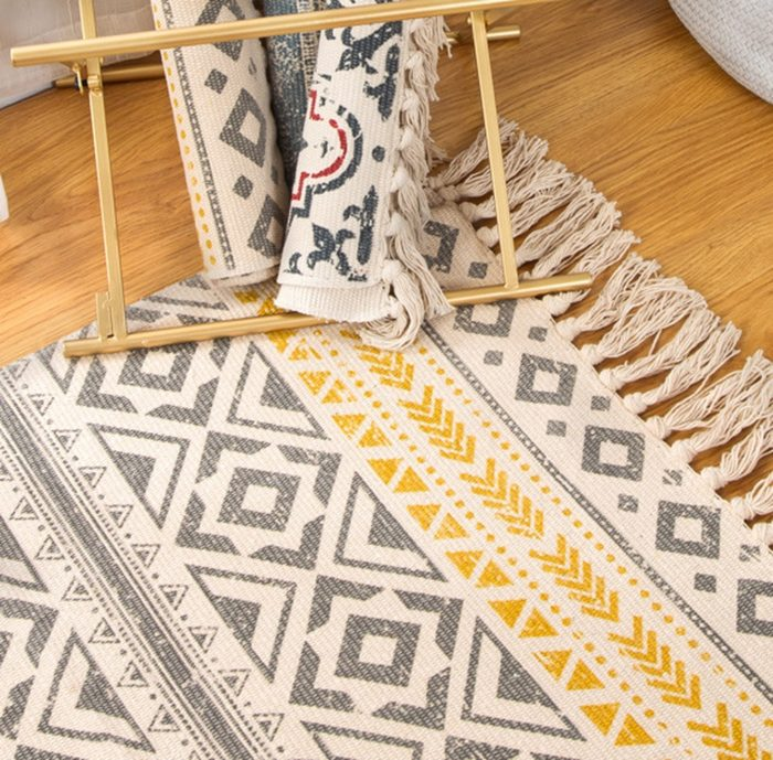 Boho Area Rug Floor Mat Decor