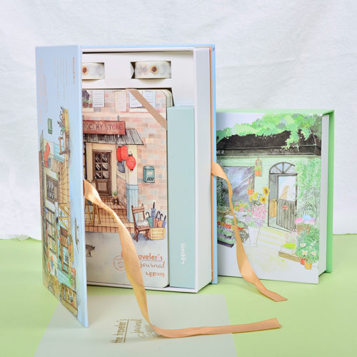 Travel Journal Set Notebook Pen Tape