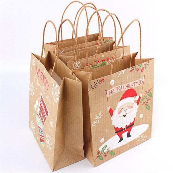 Christmas Gift Bags Kraft Paper