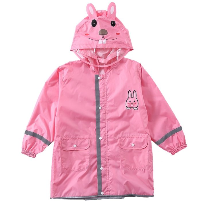Childrens Raincoat Animal Design with Pockets