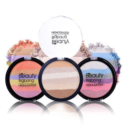 Rainbow Highlighter Face Makeup