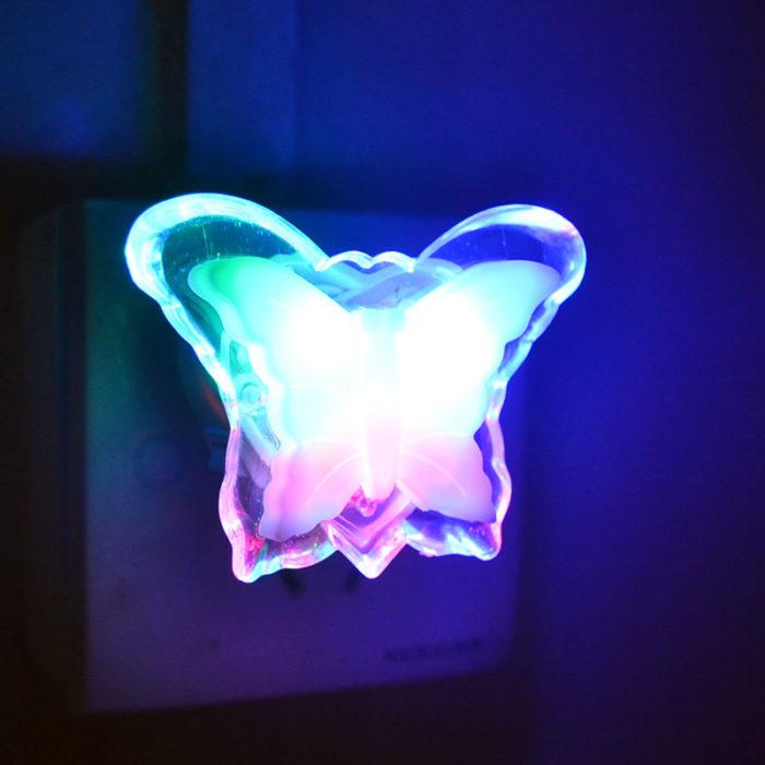 Wall Night Light Butterfly Lighting