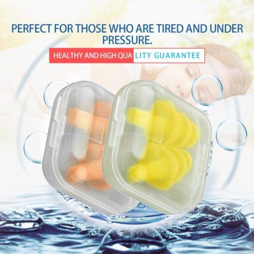Waterproof Ear Plugs 1 Pair with Case