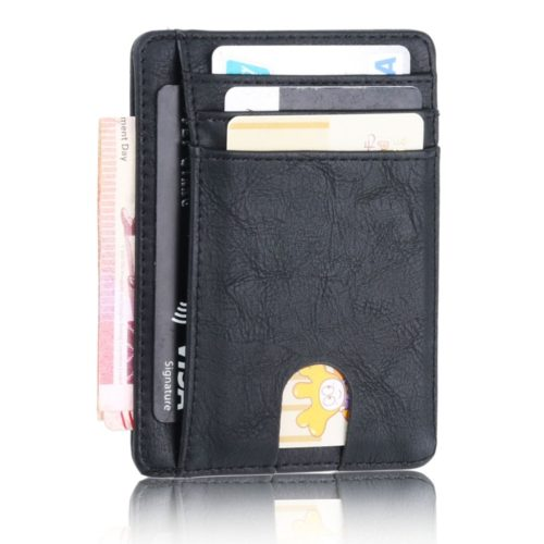 Leather Card Holder RFID Signal Blocker