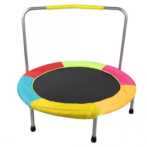 Kids Trampoline with Handrail
