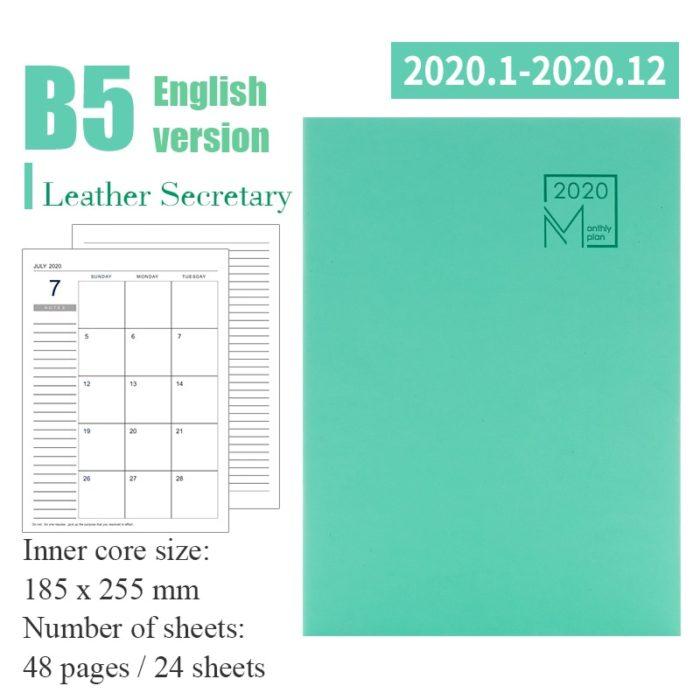 2020 Planner Notebook Agenda Organizer