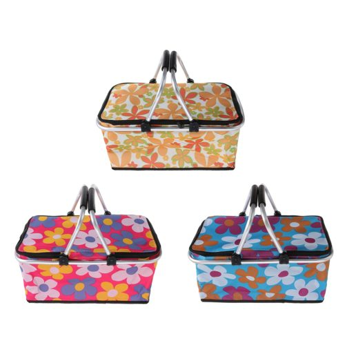Insulated Picnic Basket Portable Container