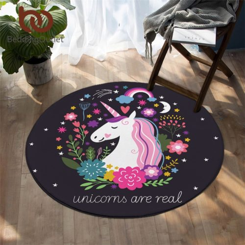 Round Carpet Unicorn Floor Mat