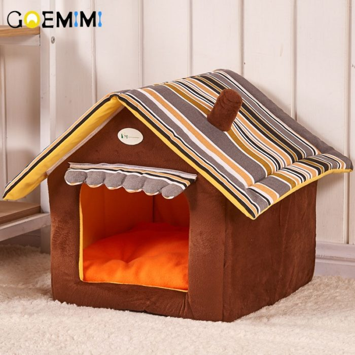 Dog House Bed With Removable Cover