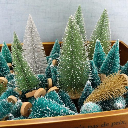Miniature Christmas Tree 12PC Set Decoration