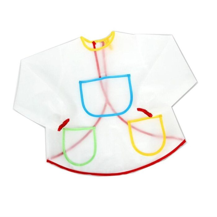Painting Apron for Kids with Pockets