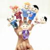 Family Finger Puppets Children Toys