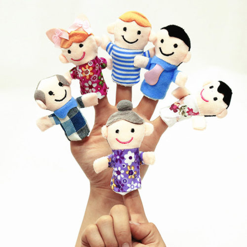 Family Finger Puppets Children Toys