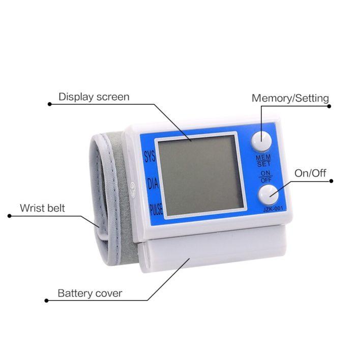 Blood Pressure Wrist Cuff Digital Monitor