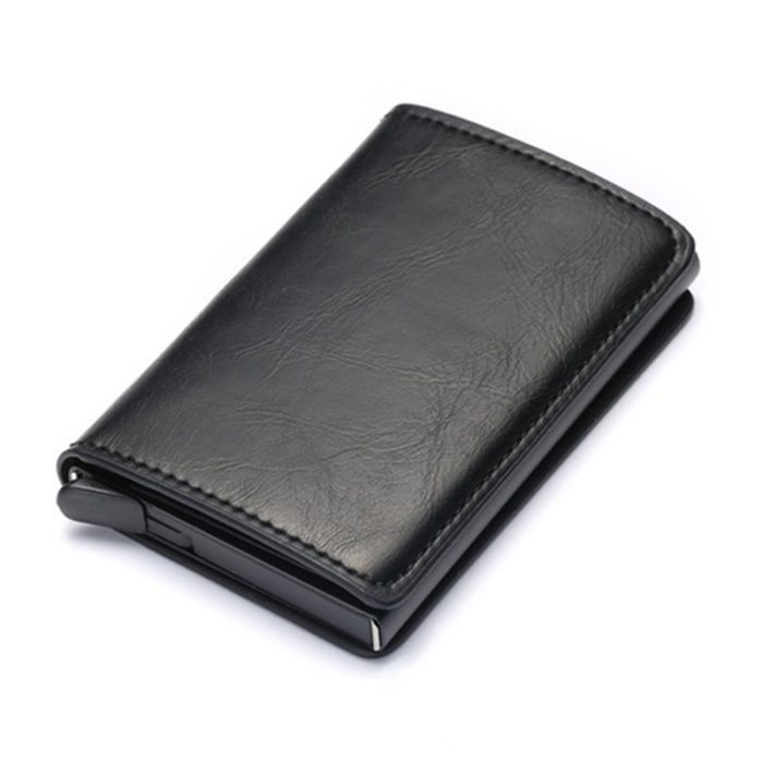 Leather Credit Card Holder Portable Case