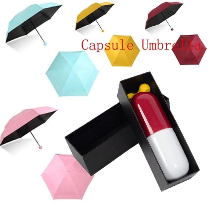 Capsule Umbrella with UV Protection