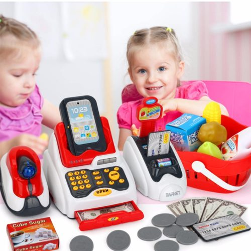 Toy Cash Register 24PC Educational Set