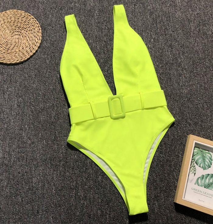 One Piece Bikini With Belt