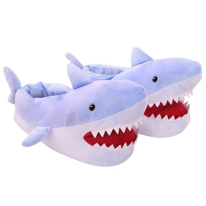 Shark Slippers Funny Bedroom Footwear