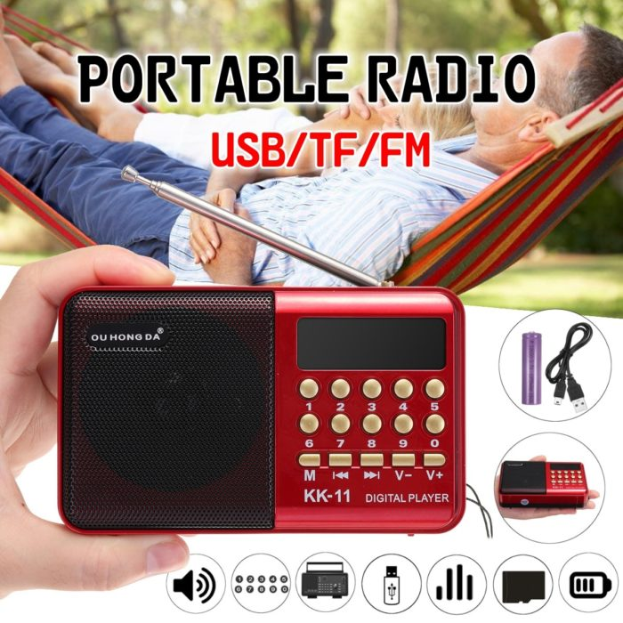 Portable FM Radio Mini MP3 Player