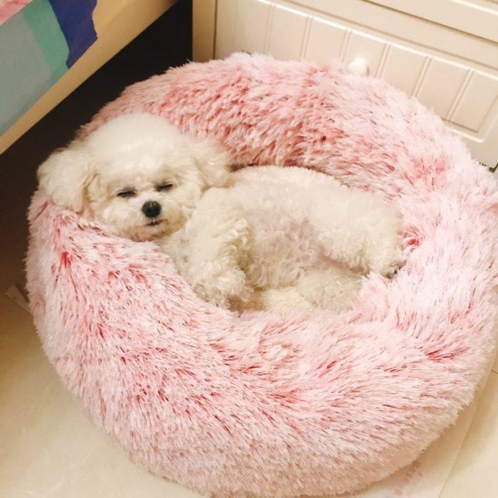 Fluffy Dog Bed Soft Pet Sofa