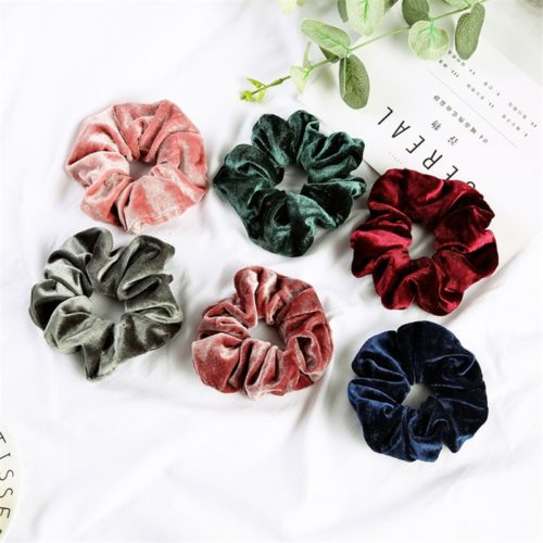 Velvet Scrunchies Girls Hairband Ties