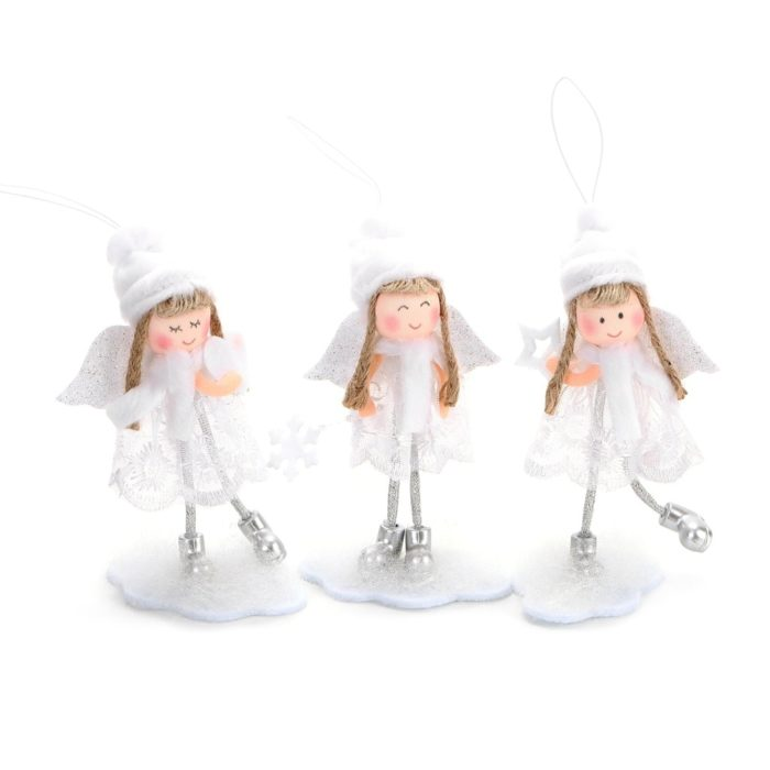 Angel Christmas Ornaments with Glitter Wings