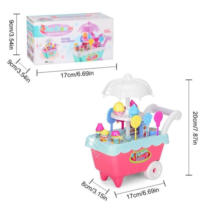 Ice Cream Cart Toy Pretend Play