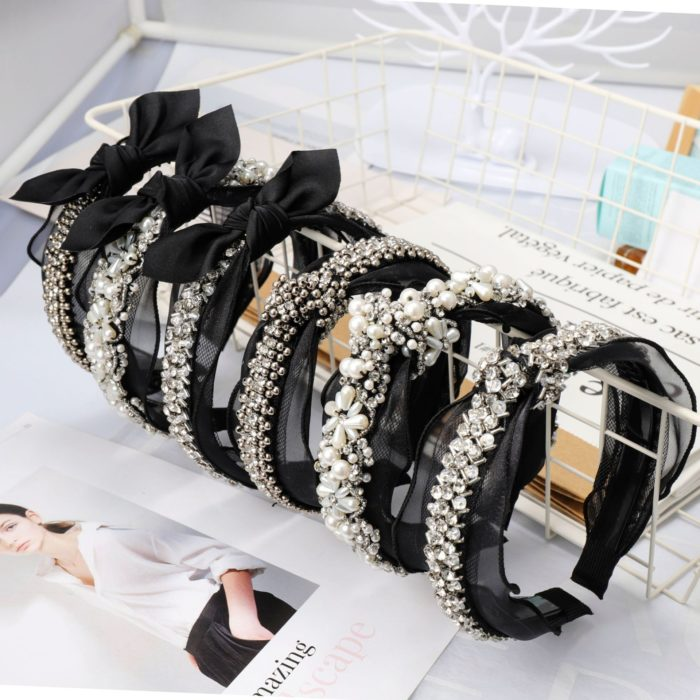 Fashion Headband With Lace And Pearl