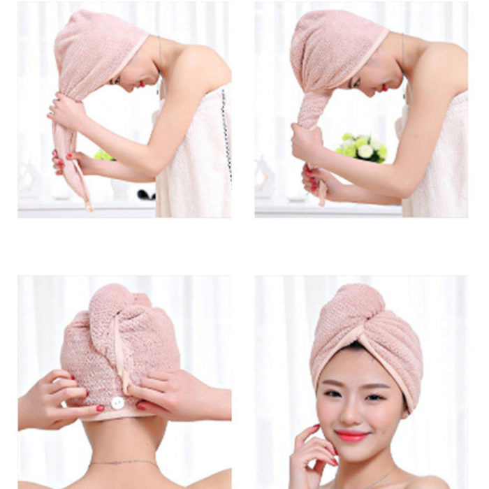 Towel Turban Hair Drying Towel