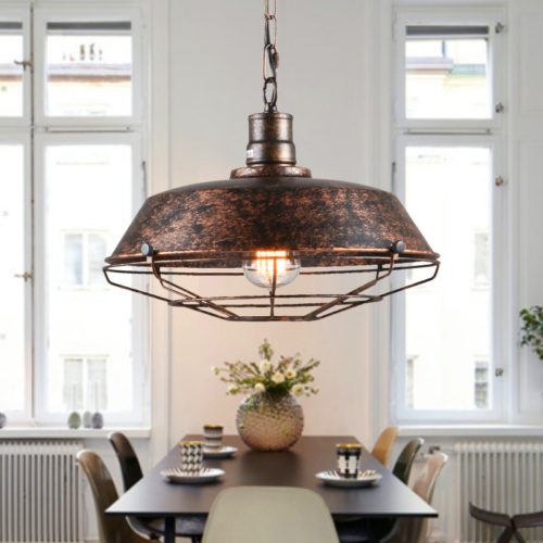 Vintage Pendant Lighting Hanging Metal Lamp