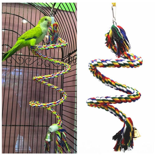 Parrot Toy Bird Hanging Rope