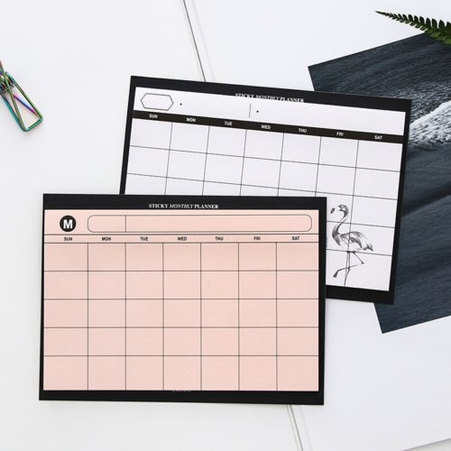Weekly Planner Pad Stick-on Scheduler