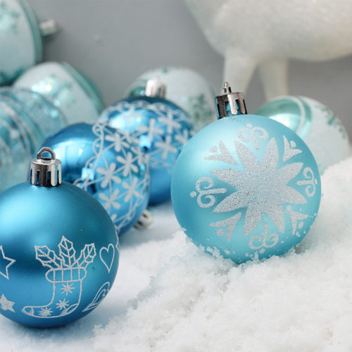 Christmas Ball Ornaments Blue Christmas Balls