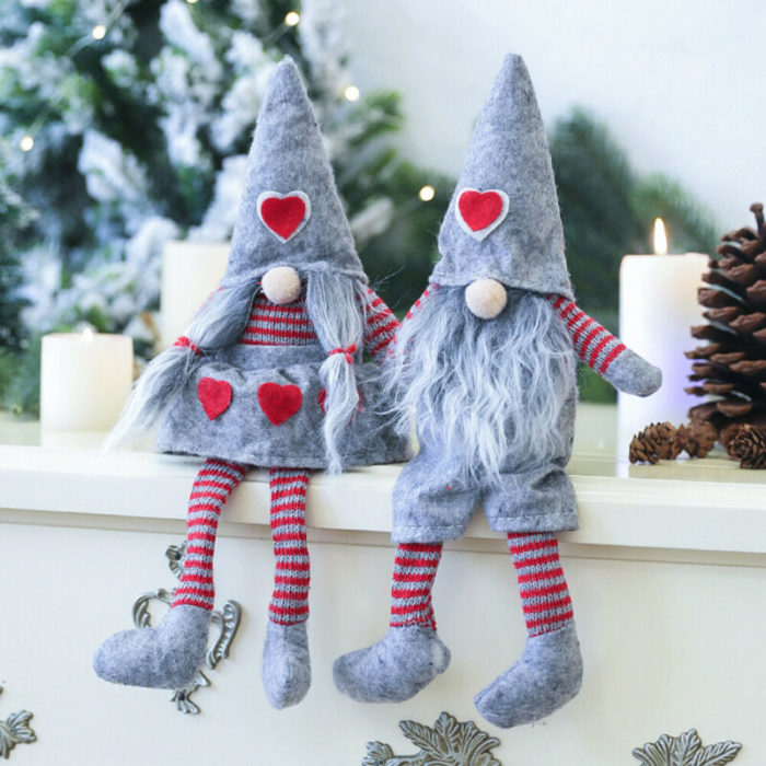 Gnome Christmas Ornaments Decorative Dolls