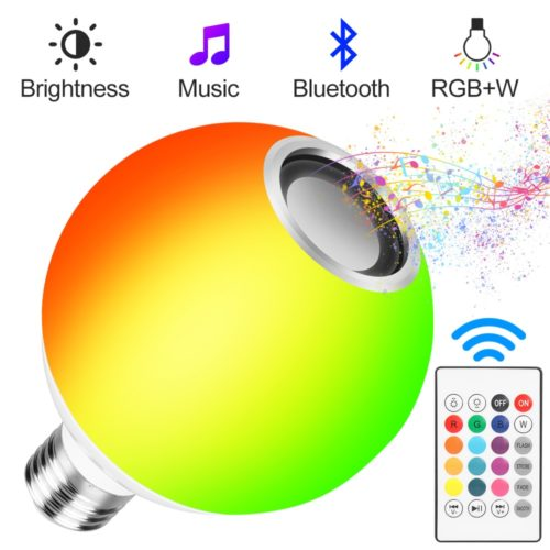Bluetooth Light Bulb Speaker with Controller