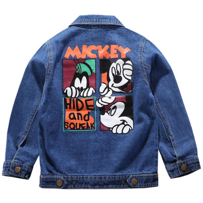 Kids Denim Jacket Mickey Mouse Design