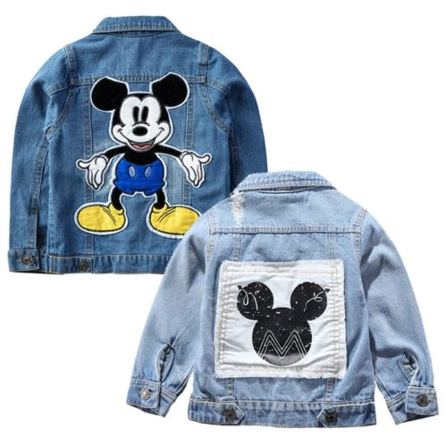 Kids Denim Jacket MickeyMouse Design